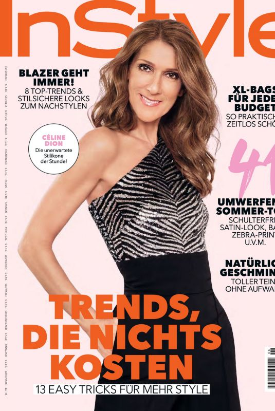 CELINE DION in Instyle Magazine, Germany June 2020