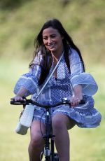 CHANTELLE HOUGHTON Out Riding a Bike in Essex 04/22/2020