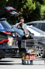 CHARLIZE THERON Leaves Bristol Farms in West Hollywood 05/01/2020