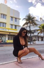 CLAUDIA ROMANI Out on Ocean Drive in Miami 05/23/2020