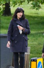 CLAUDIA WINKLEMAN Out at a Park in London 05/02/2020