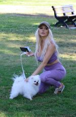 COURTNEY STODDEN Out with Her Dog in Moorpark in Studio City 05/28/2020
