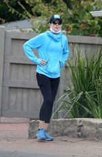COURTNEY THORNE-SMITH Out Hikinig in Los Angeles 04/30/2020