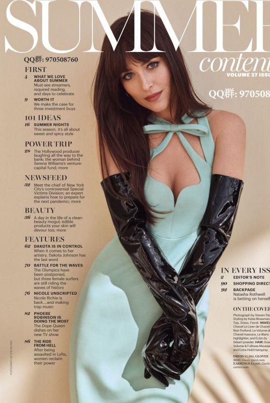 DAKOTA JOHNSON in Marie Claire Magazine, Summer 2020