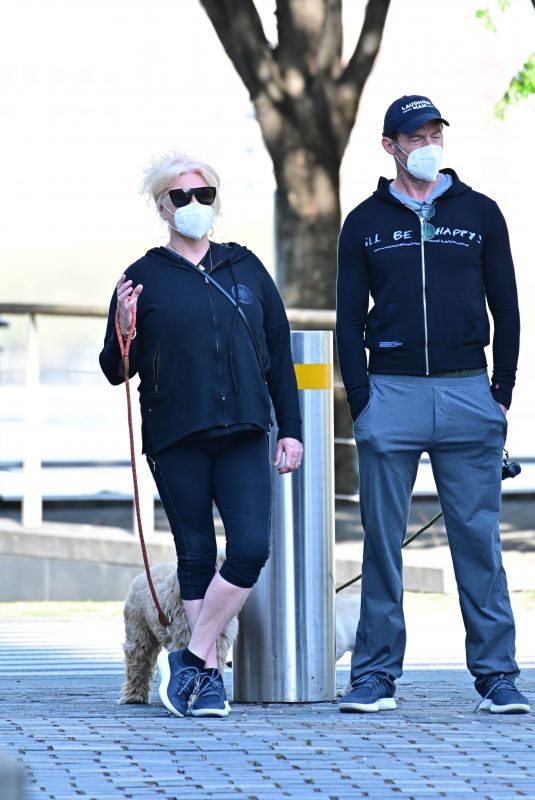 DEBORRA-LEE FURNESS and Hugh Jackman Out with Their Dogs in New York 05/04/2020