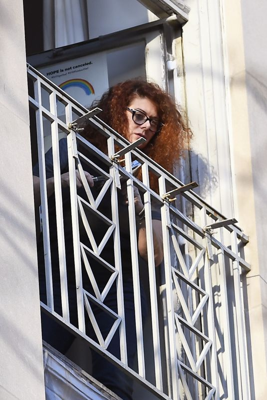 DEBRA MESSING at Her Balcony in New York 05/03/2020