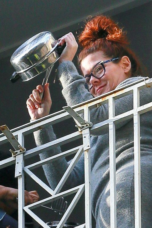 DEBRA MESSING at Her Balcony in New York 05/12/2020