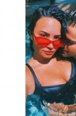 DEMI LOVATO and Max Ehrich in a Pool - Instagram Photos 05/28/2020