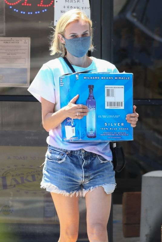 DIANE KRUGER Buys Blue Agave Tequilana Out in Los Angeles 05/15/2020