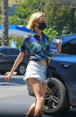 DIANE KRUGER in Denim Shorts Out Shopping in Los Angeles 05/19/2020