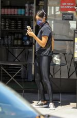 EIZA GONZALEZ Wearing a Mask Out for Coffee in Beverly Hills 05/19/2020