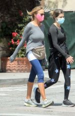 ELISABETTA CANALIS Out with a Friend in Beverly Hills 04/30/2020