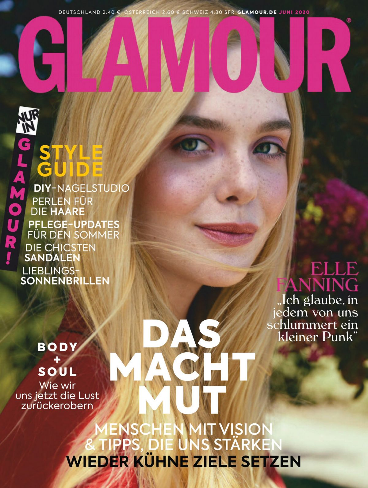 ELLE FANNING In Glamour Magazine, Germany June 2020