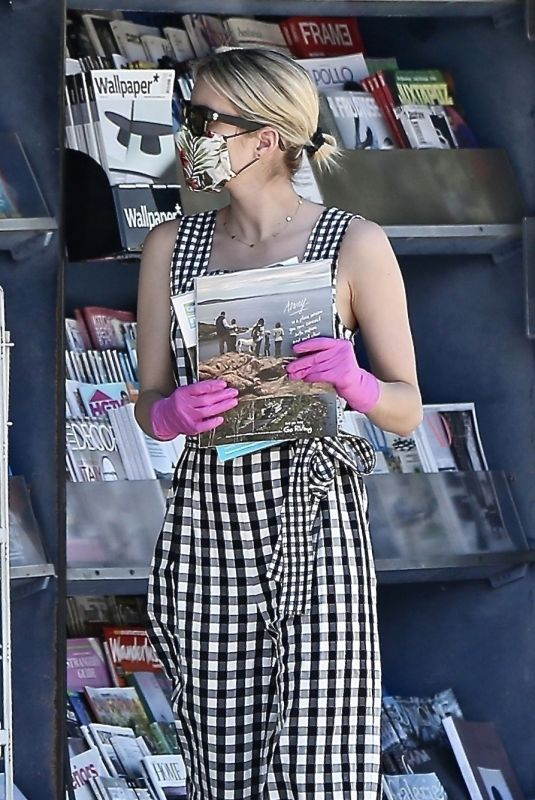 EMMA ROBERTS at a Newsstand in Studio City 05/08/2020