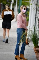EMMA ROBERTS in Denim Out for Coffee in Los Angeles 05/30/2020