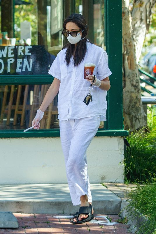 EMMY ROSSUM Out for Coffee in Malibu 05/12/2020