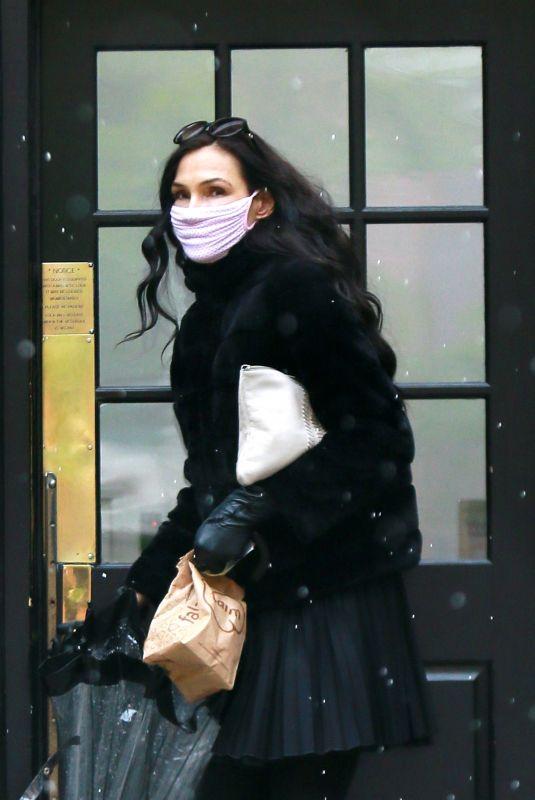FAMKE JANSSEN Wearing Mask Out in New York 05/09/2020