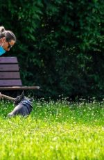 FEDERICA PELLEGRINI Out with Her Dog in Verona 05/28/2020