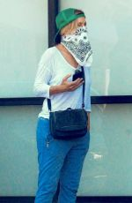FELICITY HUFFMAN Wearing Bandana Mask Out in Los Angeles 05/13/2020