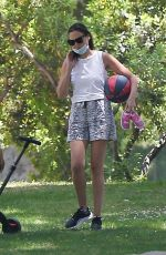 GAL GADOT Out at Coldwater Park in Beverly Hills 05/17/2020