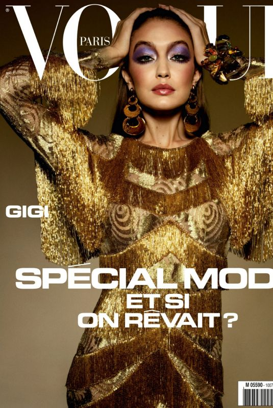 GIGI HADID in Vogue Paris, May/June 2020