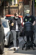 GOERGIA GROONE and Rupert Grint Out in London 05/21/2020
