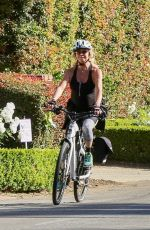 GOLDIE HAWN Riding a Bike Out in Pacific Palisades 05/04/2020