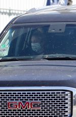 GWEN STEFANI Out Driving in Los Angeles 05/26/2020