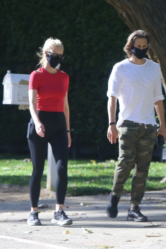 GWYNETH PALTROW and Brad Falchuk Wearing Mask Out in Pacific Palisades 05/02/2020