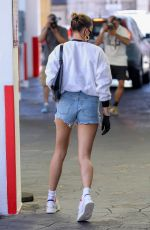 HAILEY BIEBER in DEnim SHorts Heading to a Medical Building in Beverly Hills 05/22/2020