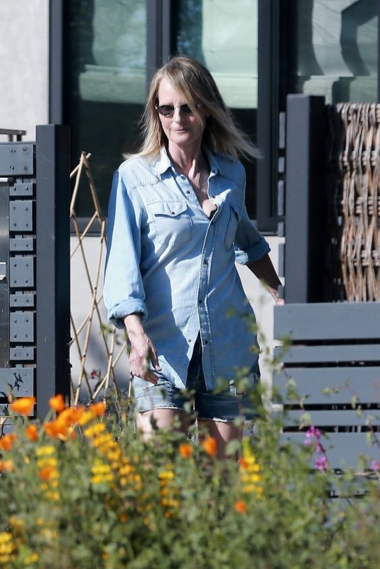 HELEN HUNT Out and About in Santa Monica 05/01/2020