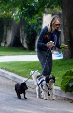 HELEN HUNT Out with her Dogs in Brentwood 05/11/2020