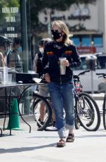 HELEN HUNT Wearing a Black Mask Out in Brentwood 05/24/2020