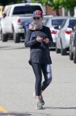 HELEN HUNT Wearing a Mask Out in Brentwood 05/21/2020