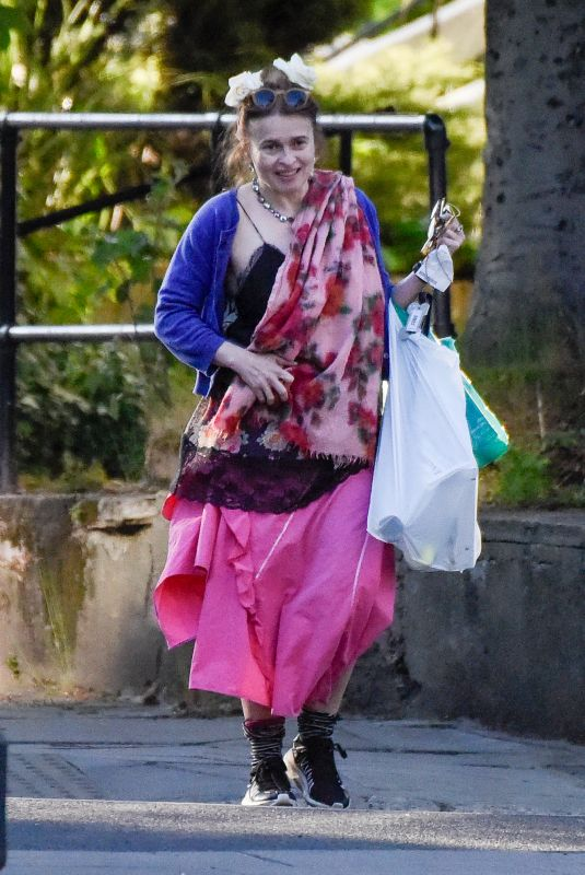 HELENA BONHAM CARTER Out in Hampstead 05/06/2020