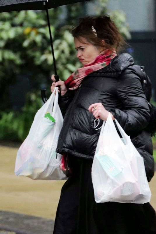 HELENA BONHAM CARTER Out Shopping in London 04/30/2020