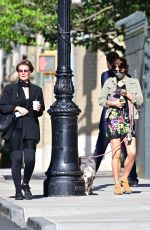 HELENA CHRISTENSEN Out with Her Dog in New York 05/21/2020