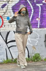 HELENA CHRISTENSEN Wearing Mask Out in New York 04/30/2020