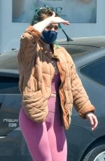 HILARY DUFF Wearing Mask Out Shopping in Studio City 04/30/2020