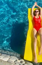 HUNTER HALEY KING in Red Swimsuit - Instagram Photos 05/10/2020