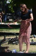 IMOGEN THOMAS at a Park in London 05/29/2020