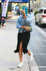 IRINA SHAYK Wearing a Black Mask Out in New York 05/25/2020
