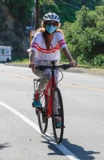 ISLA FISHER at a Bike Riding in Hollywood Hills 05/26/2020