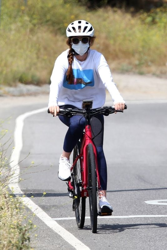 ISLA FISHER Out Riding Her Bike in Los Angeles 05/29/2020