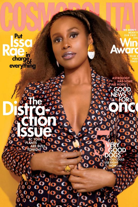 ISSA RAE in Cosmopolitan Magazine, June 2020