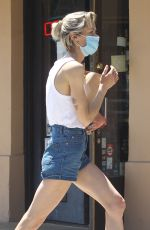 JAIME KING in Denim Shorts Leaves Liquor Store in Beverly Hills 05/11/2020