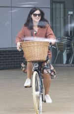 JENNA LOUISE COLEMAN Out Riding Bike in London 04/27/2020