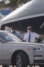 JENNIFER LOPEZ and Alex Rodriguez Boarding on a Private Jet in Miami 05/29/2020