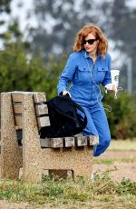 JESSICA CHASTAIN Out and About in Pacific Palisades 05/08/2020