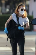 JESSICA CHASTAIN Wearing Mask Out in Pacific Palisades 05/13/2020